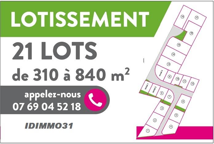 CINTEGABELLE-Lotissement 21 lots
