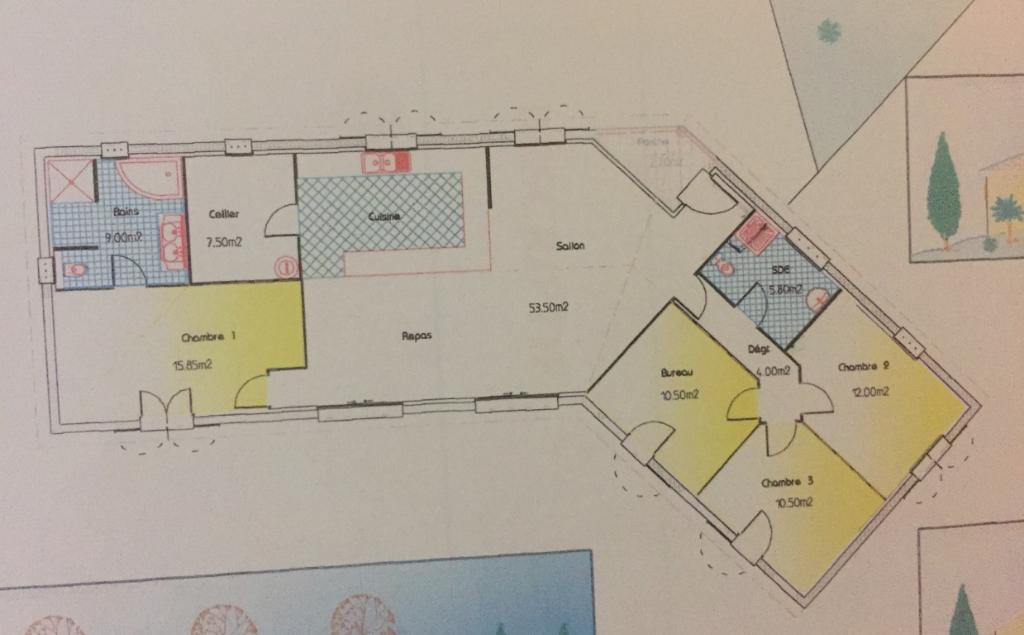 FONSORBES-Maison 4 pièce(s) 130 m2
