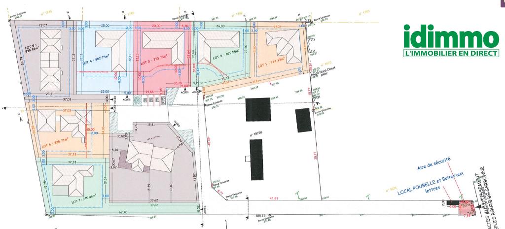 CARBONNE-Terrain viabilisé 843 m2