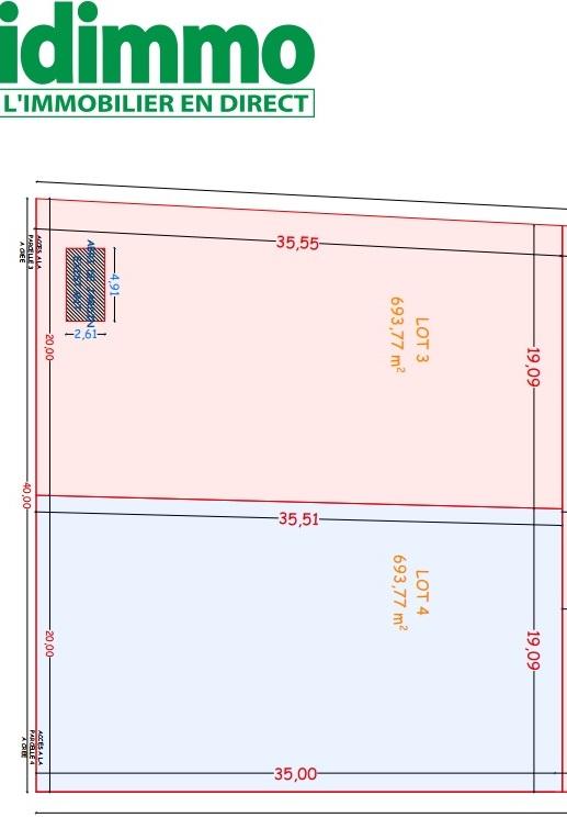 CINTEGABELLE-Terrain 700 m2 constructible