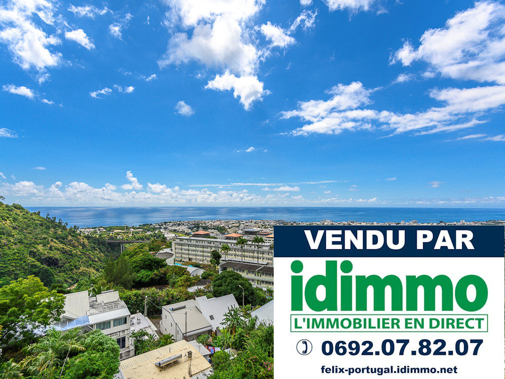 IDIMMO:  Bas de Bellepierre,  Appt T2/3 de 99m² SU avec vue mer panoramique !