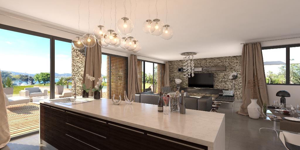 Villa de luxe neuve magnifiquement conçue avec piscine privée .