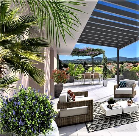 Appartement T4, 2 garages, terrasse 30m2,