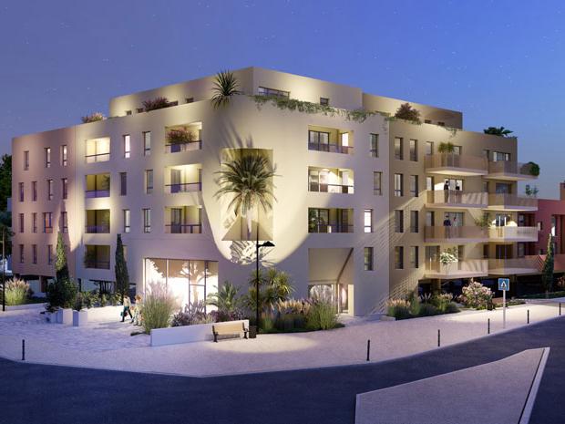 Appartement neuf Le Lavandou 3 pièces grand confort 70 m2 balcon parking
