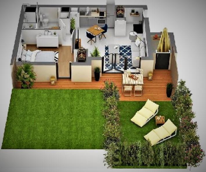 Villa-maison avec jardin