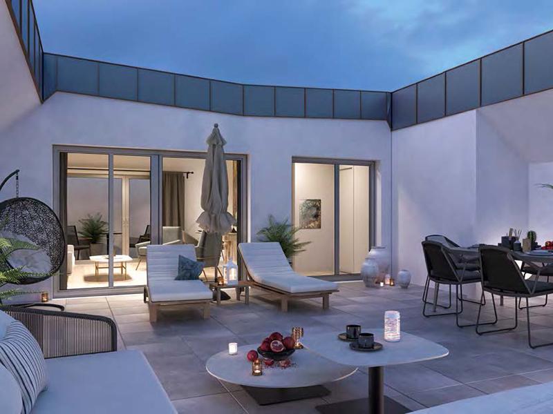 Appartement T5 avec terrasse sur le toit