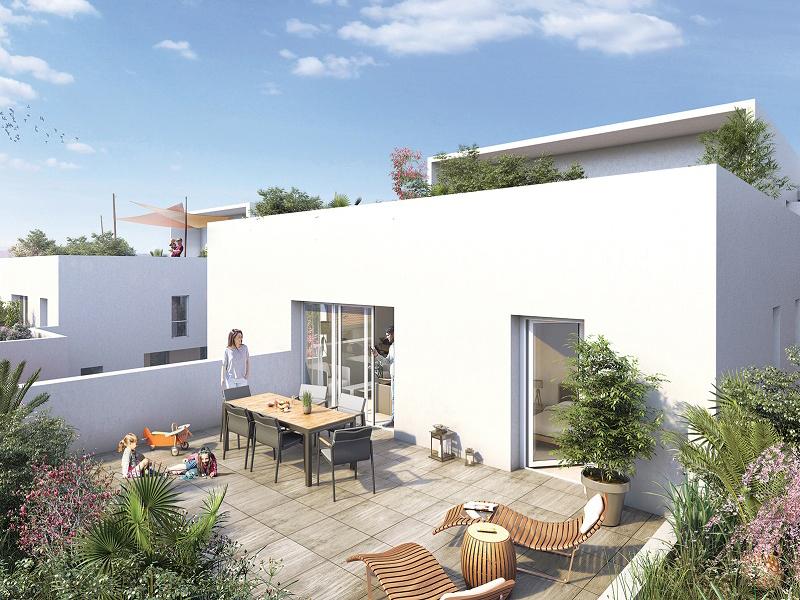 Une vie résidentielle au coeur de la ville: T3 avec balcon ou terrasse dans une résidence neuve