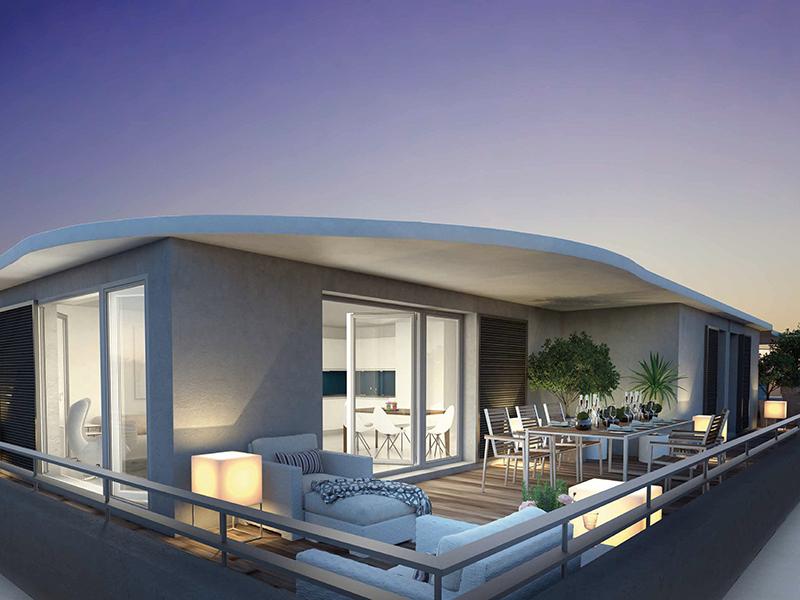 Appartement T4 neuf avec grande terrasse et piscine dans la Résidence