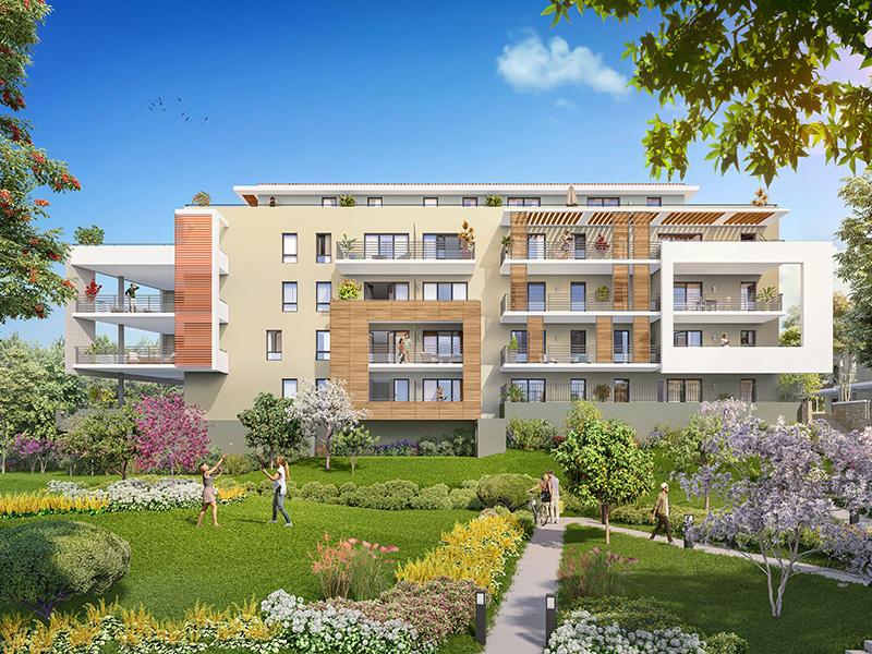 Aix T4  75 m2 avec terrasse 22 m2 calme près du centre ville