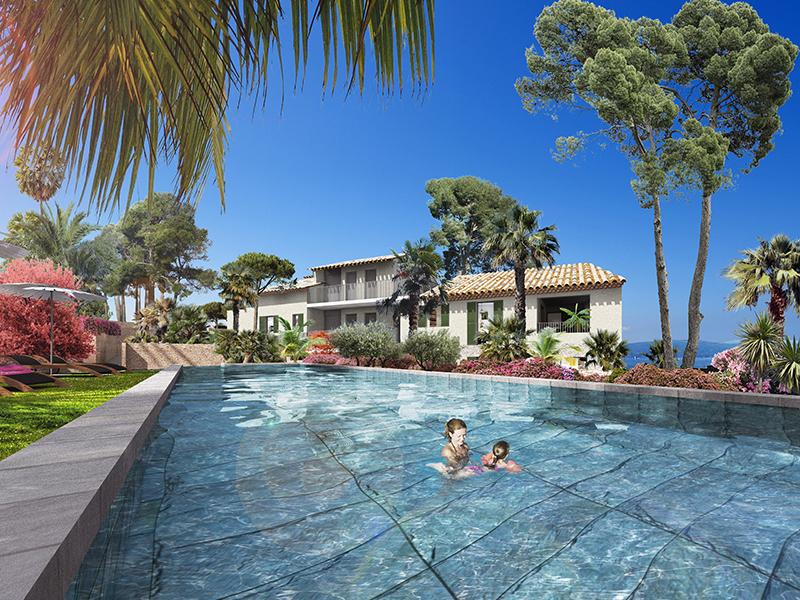 T2  standing dans résidence neuve calme avec piscine, proche plages