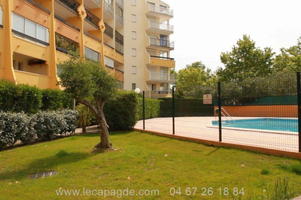 Cap d'Agde Deux pièce a vendre résidence Sopral 1er