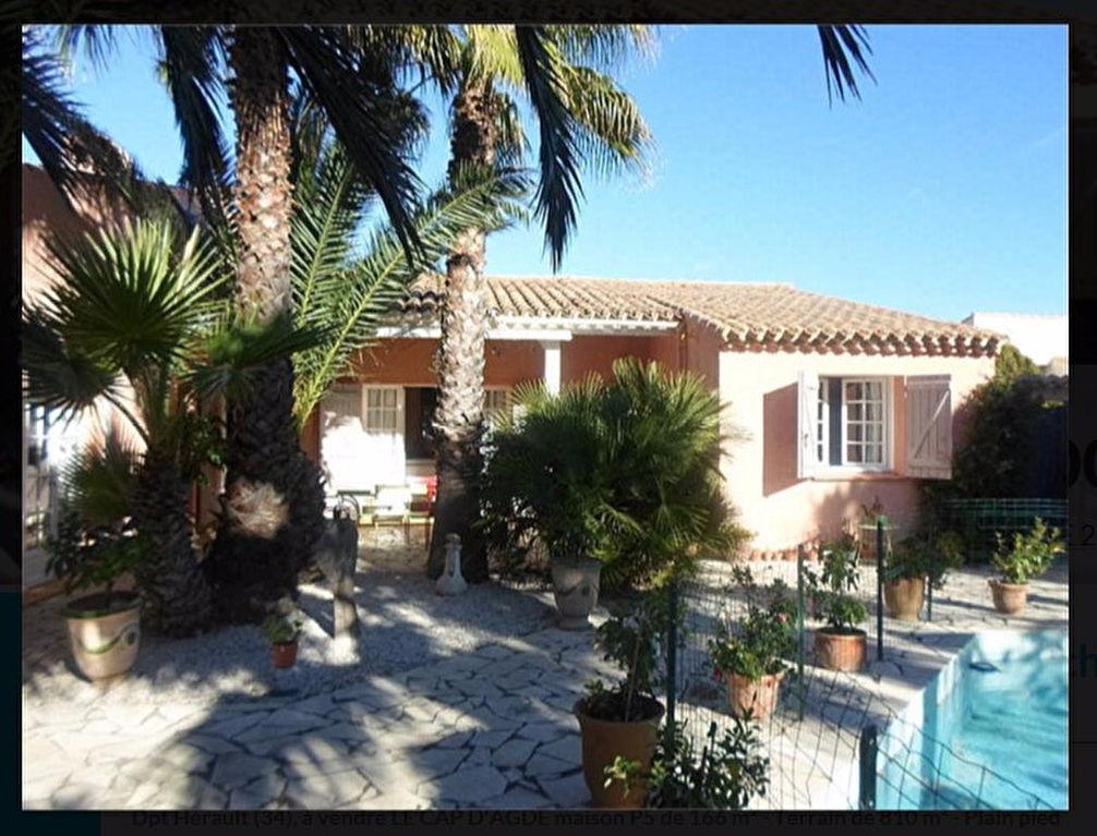 Cap d'Agde villa individuelle sur 800 m2 de terrain