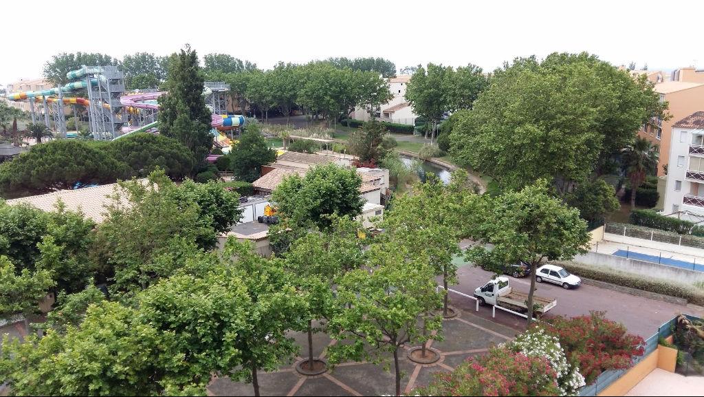 Cap d'Agde Appartement  2 pièces à la vente belle vue dernier étage
