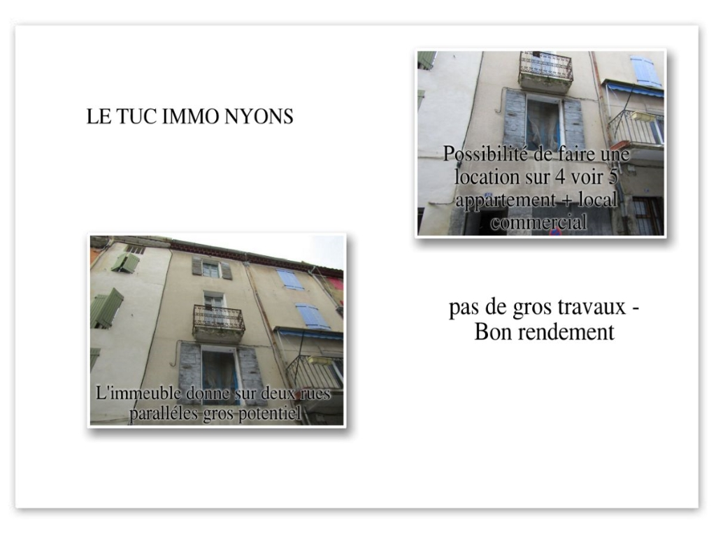 Immeuble de rapport  8 pièce(s) 179 m2 sur 3 niveaux  dans rue piétonne avec possibilité commerce.
