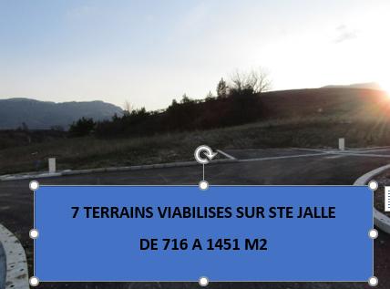 Terrain  746 m2  viabilisé en Drôme provençale dans un cadre exceptionnel. 0699425308