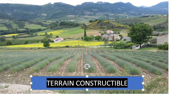 Proche Sainte Jalle .Terrain constructible de  7380 m2 hors lotissement. 0699425308