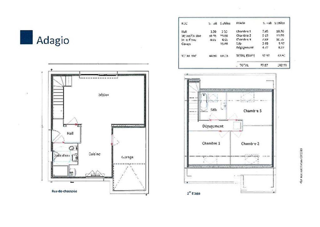 Maison Laventie 4 pièce(s) 77.87 m2