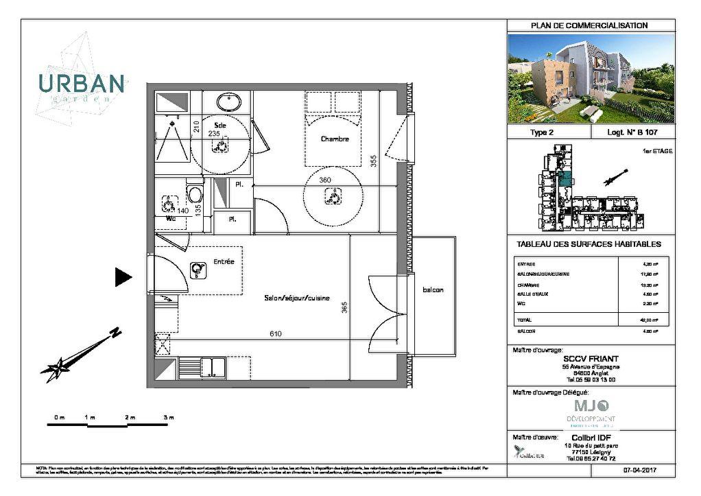 Appartement Sartrouville 2 pièce(s) 42.00 m²
