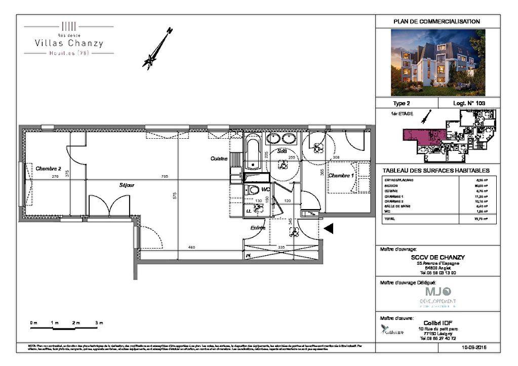 VEFA -  Appartement Houilles 3pièce(s) 72.70m²