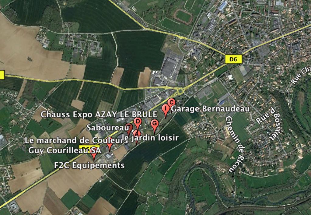 Terrain zone commerciale et activité Azay le Brûlé