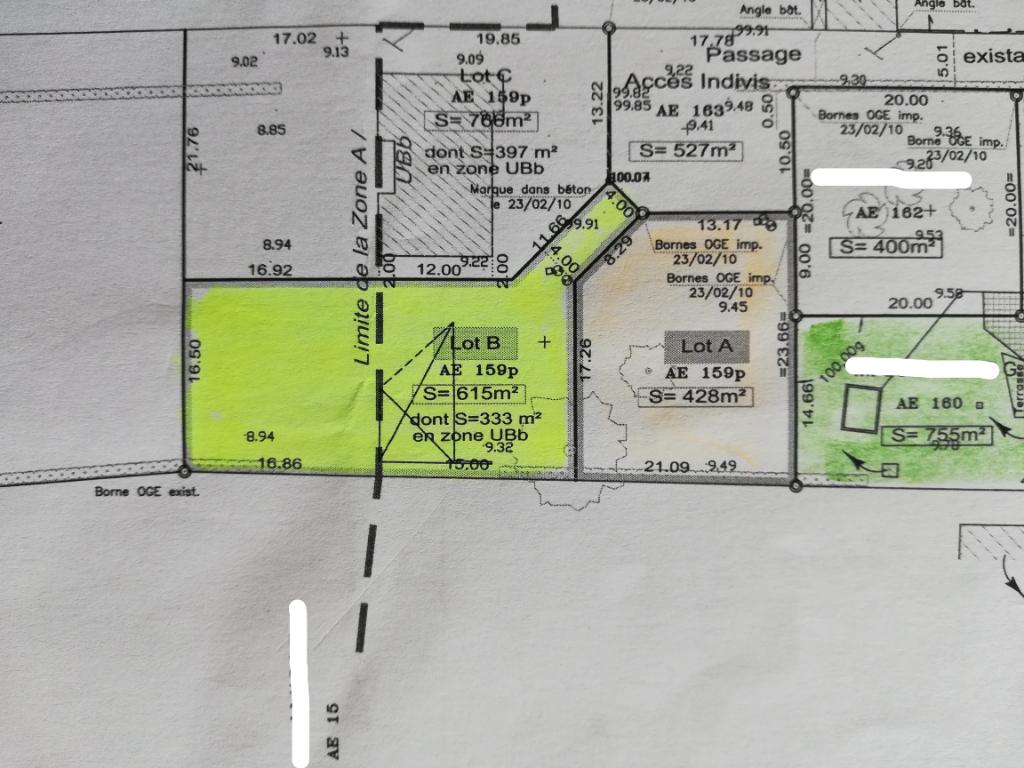 Terrain Viabilisé 615 m²