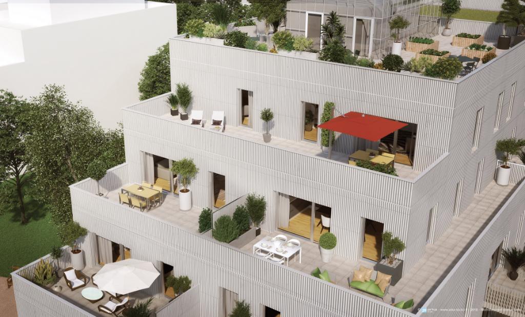 Appartement 3 pièces dernier étage avec terrasse