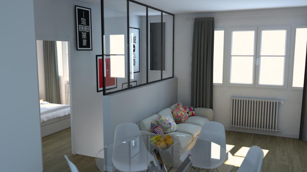 Studio avec terrasse coeur de ville