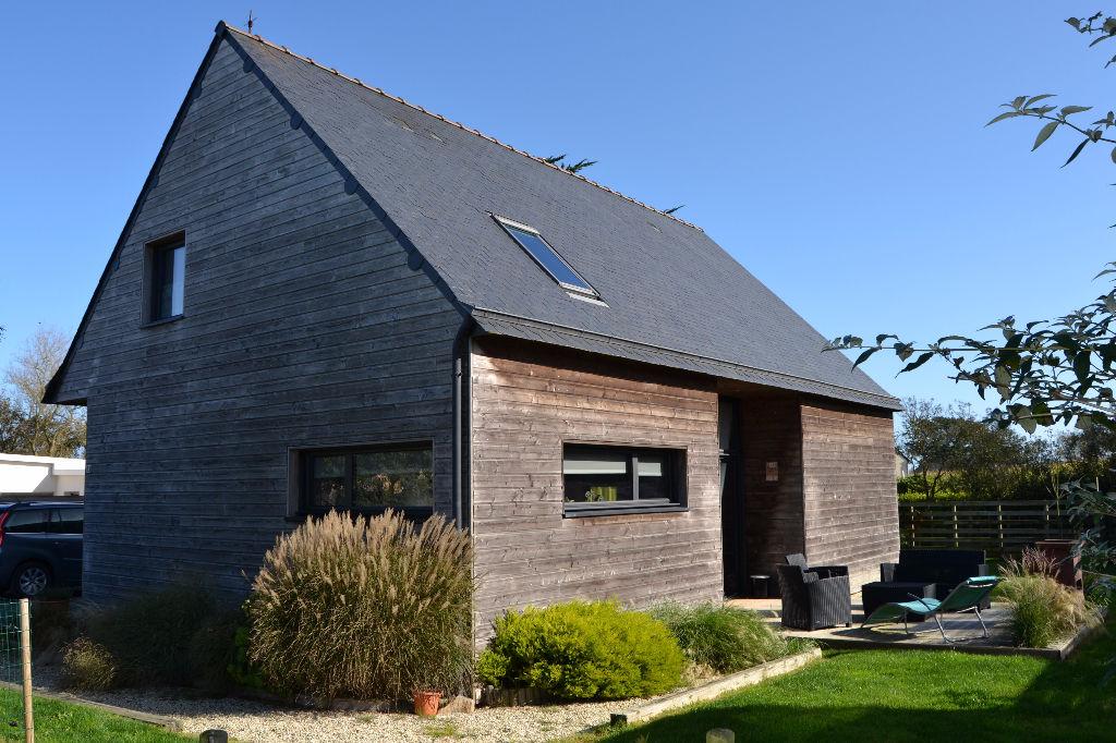 PORTSALL - Maison bois vivable de plain pied - Idéale famille