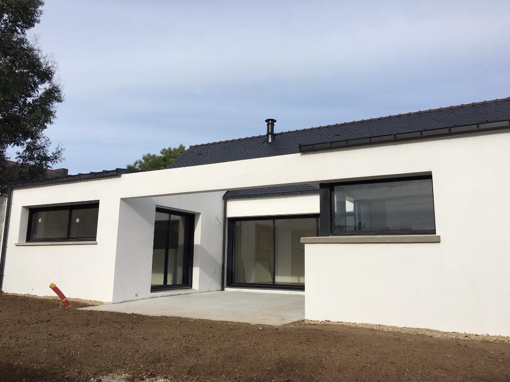 Morbihan, Etel, maison contemporaine de plain pied, 3 ch.....