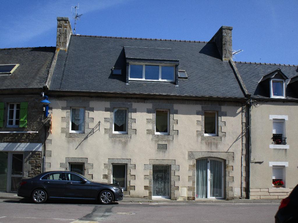 Finistère Nord CLEDER, au centre bourg , grande maison, jardin, garage...