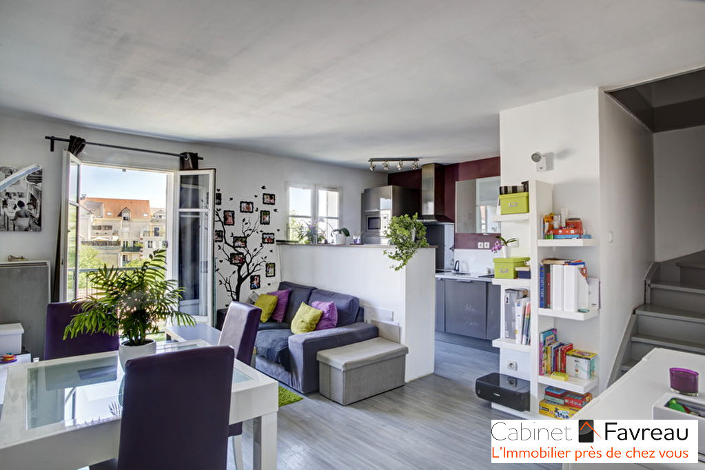 THIAIS - APOLLONIA, Appartement 3 pièces duplex + bureau + balcon + box