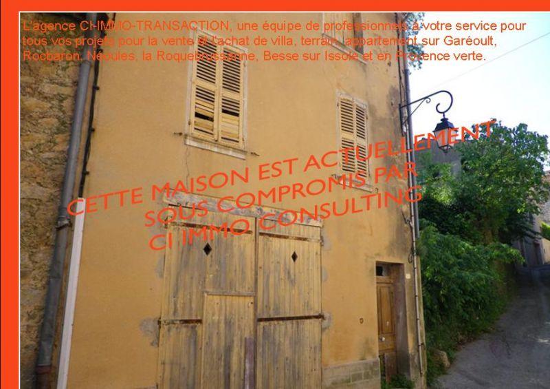 Maison de village meounes les montrieux a vendre ci immo for Achat maison de ville