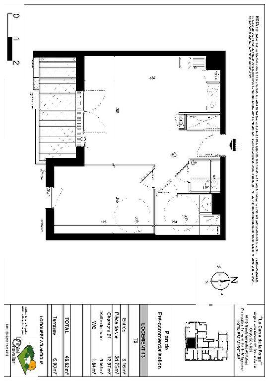 A louer GRANDCHAMP-DES-FONTAINES 44, appartement type T2, 1 chambre, 1ère occupation