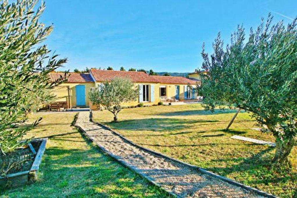 Villa récente et spacieuse -  maison principale & suite louable avec entrée indépendante -  grand jardin avec oliveraie -  proche du village