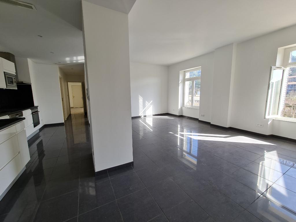 APPARTEMENT T6 AU SOMMET dans parc de ville thermale VALS-LES-BAINS - appartement T4 et studio T2 raccordables avec entrées séparées - 3 salles d'eau - cuisine haut de gamme - parking sécurisé - ascenseur - DERNIERE ETAGE avec vue