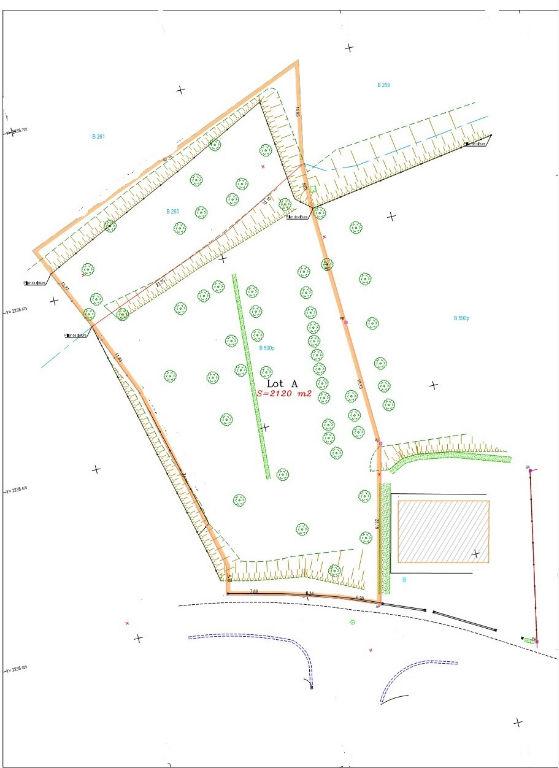 NAILLOUX-Terrain constructible 2120 m²