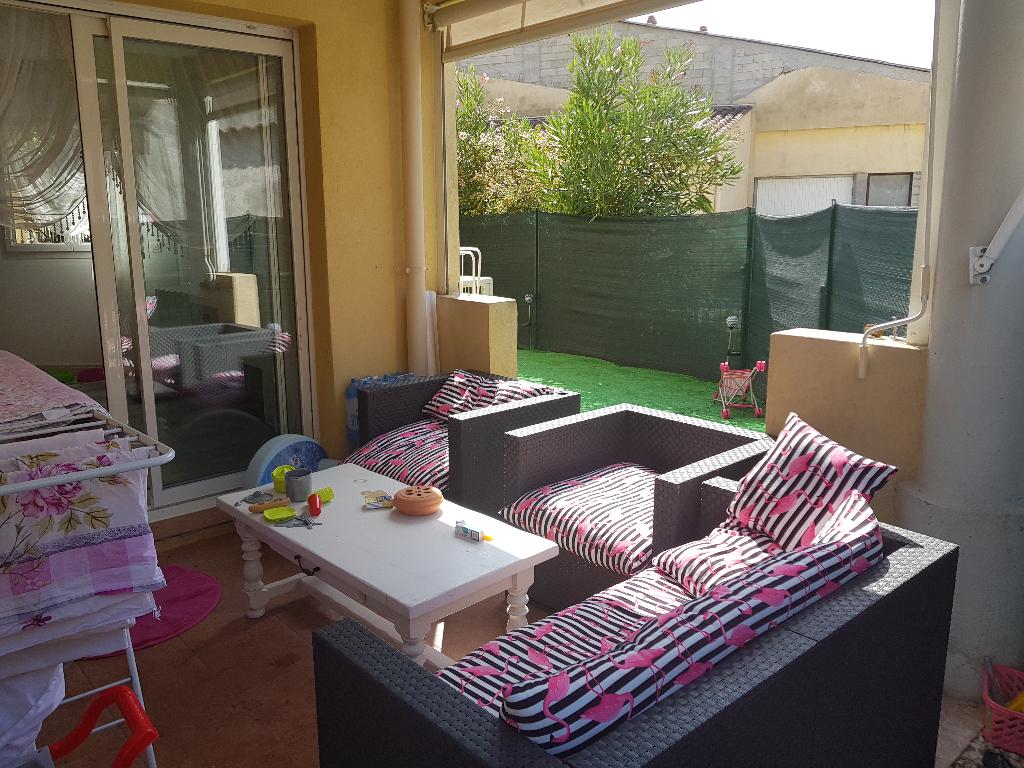 Exclusivité Draguignan centre dans résidence standing sécurisée bel F3 avec jardin de 75m terrasse parking 171200€ crn1924 commission vendeur lot 40 1200€/an charge