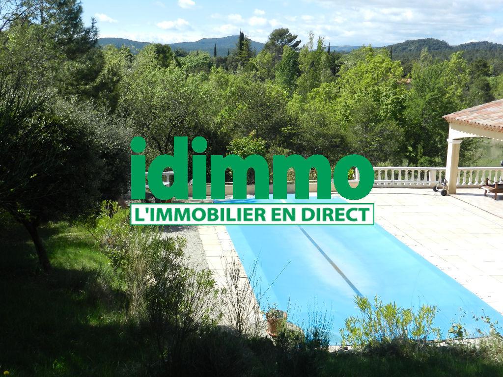 A voir Tourtour belle villa F5 2005 sur 1470M piscine 420000€ crn1992