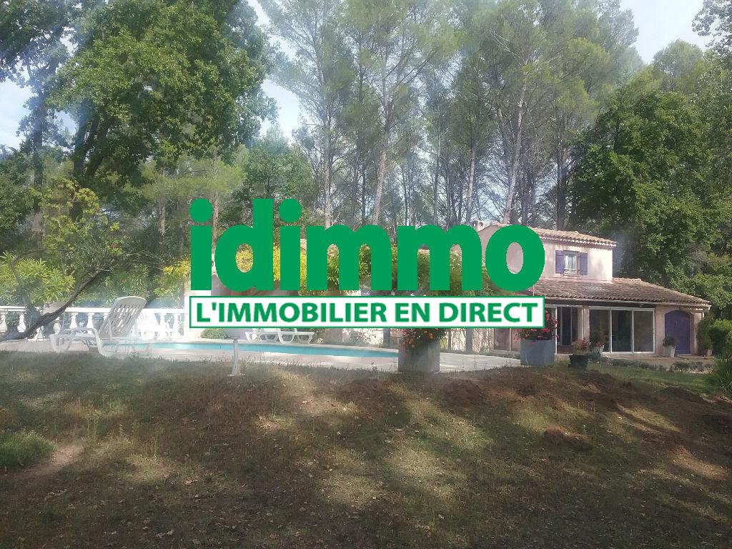 A voir Villecroze villa F5 pp de 120m sur 4690m de terrain piscine terrasse 383250€ crn2042