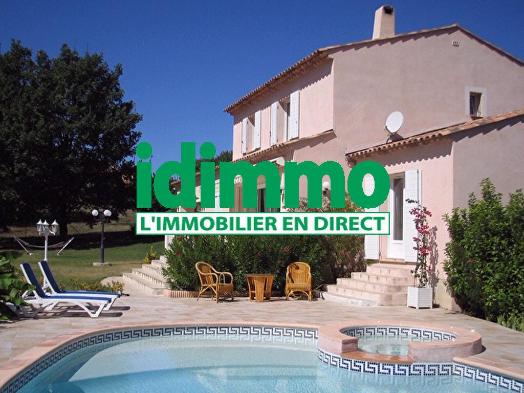 A voir Villecroze belle Villa F7 160m 1800m terrain piscine 499000€ crn2027