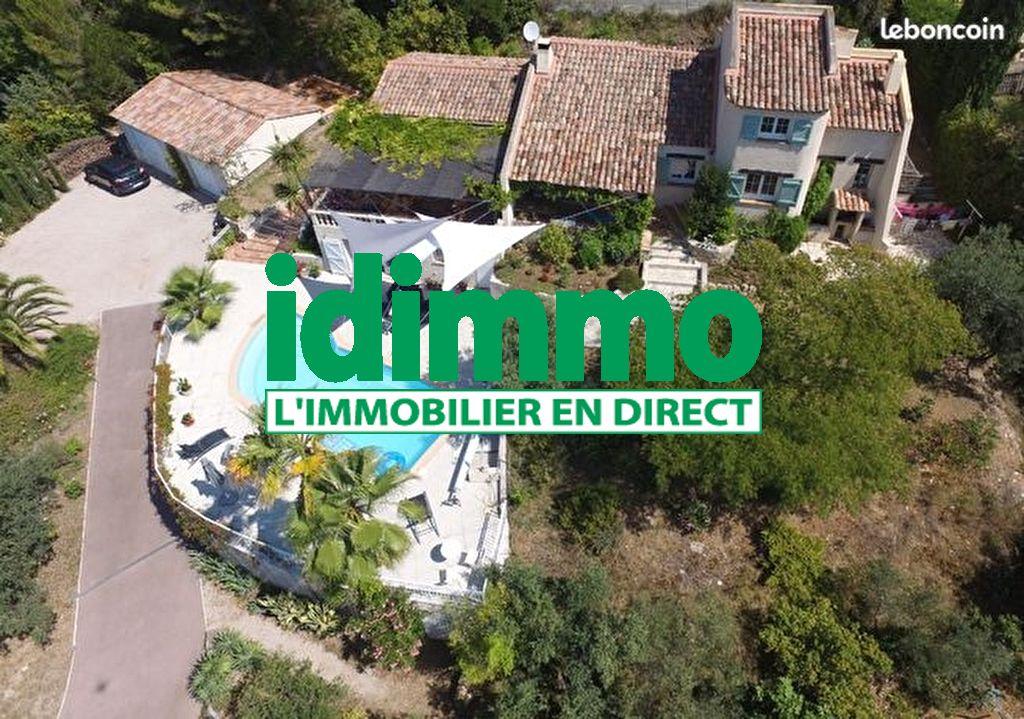 Draguignan belle villa F6 192m 2065m  terrain tout à l'égout piscine 2 gges 535600€ crn2065