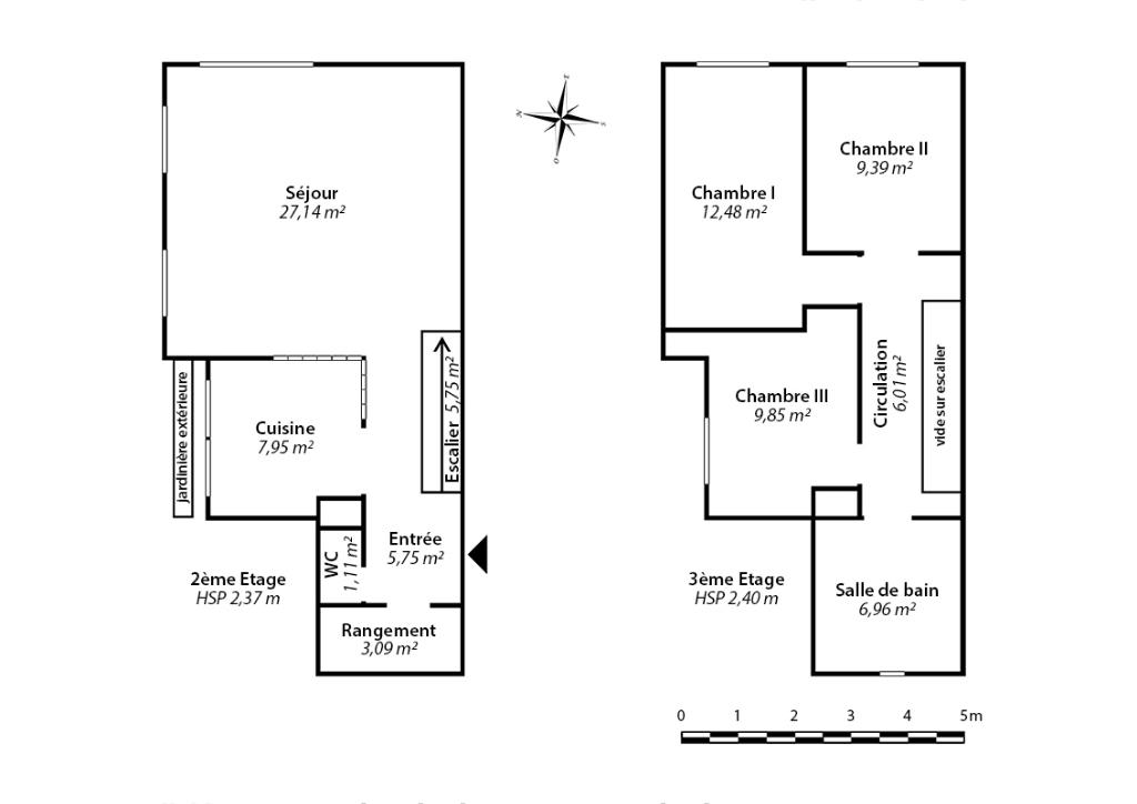 Appartement  4 pièce(s) 90 m2