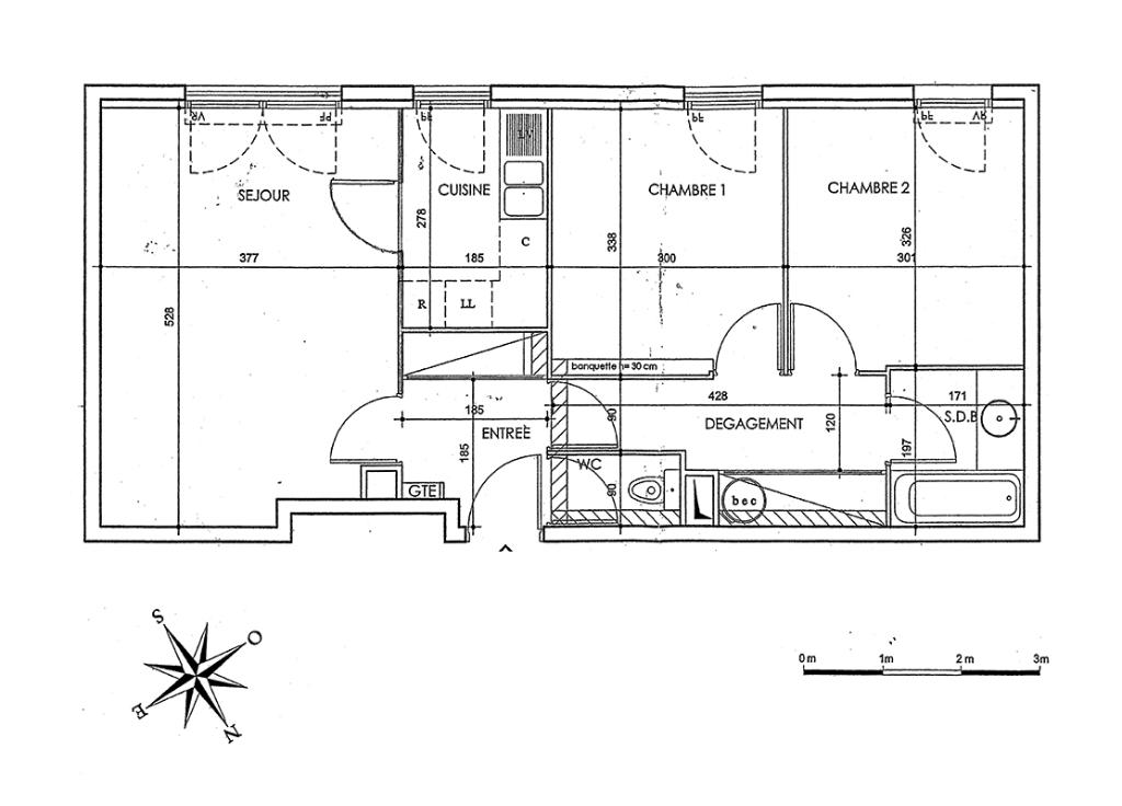 Appartement Saint Denis 3 pièce(s) 60 m2