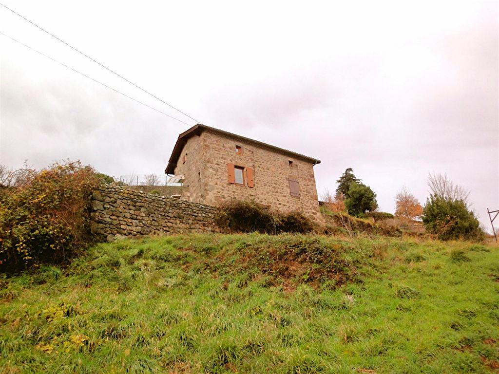 Charmante maison en pierre avec 4000m2 de terrain, à Satillieu proche commodités....