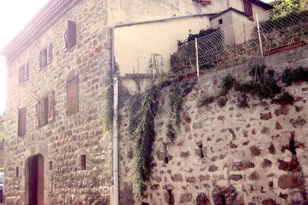 Grande maison en pierre de village comprenant un studio et un duplex avec cour, garage à Satillieu