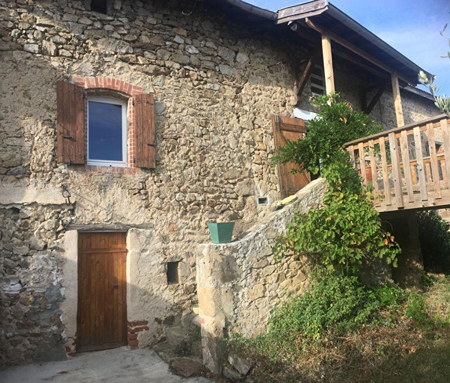 Charmante maison en pierre de hameau de 105 M2 avec jardin de 113m2 sur la commune de  Saint-Clair, proche de Davézieux