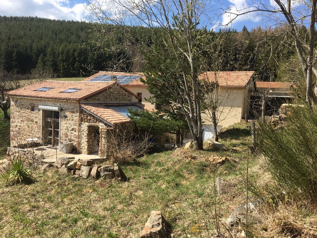 Magnifique maison de 200m2 habitable avec possibilité d'aménager une deuxième habitation de 130 m2 sur un terrain de 3000m2 , proche Burdignes