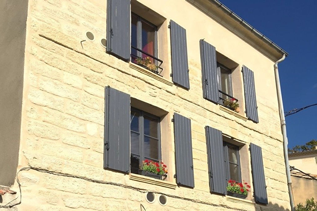 Uzes city center near the conservation area, renovated house with terrace