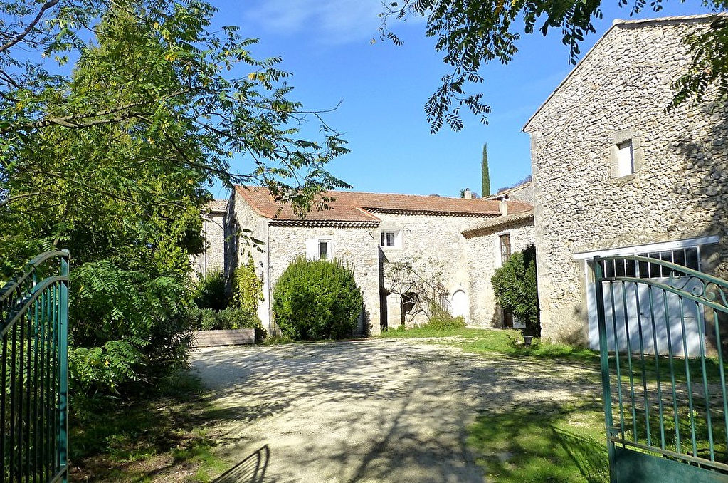 Uzès region, large rural property with main house plus 4 self contained apartments on over 60 acres of land.