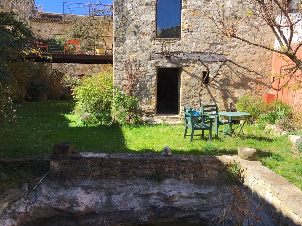 Uzes area, large stone house 360m2 on 2600m2 garden, pool possible.